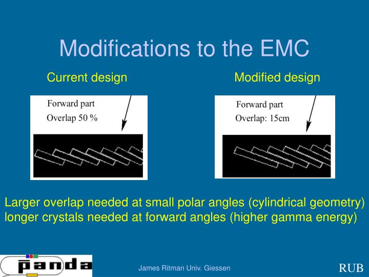 Modifications to the EMC