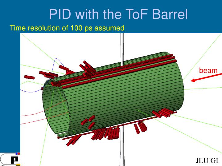 Pid with the tof barrel