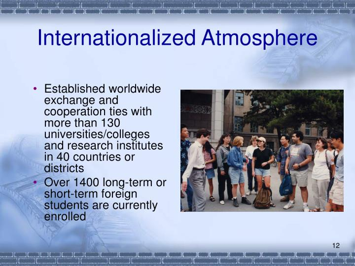 Internationalized Atmosphere