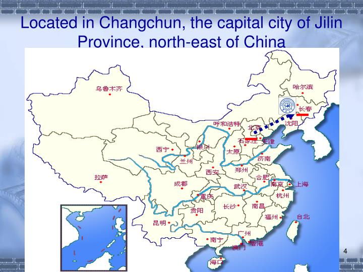 Located in Changchun, the capital city of Jilin Province, north-east of China