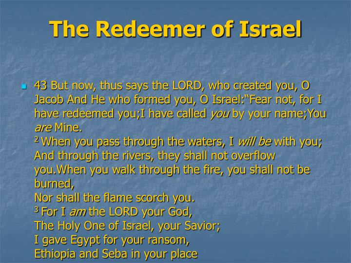 The Redeemer of Israel