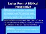 easter from a biblical perspective