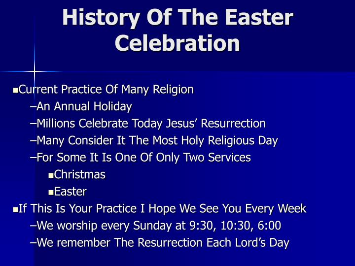 history of the easter celebration n.