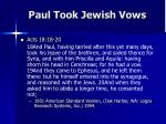 paul took jewish vows