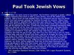 paul took jewish vows1