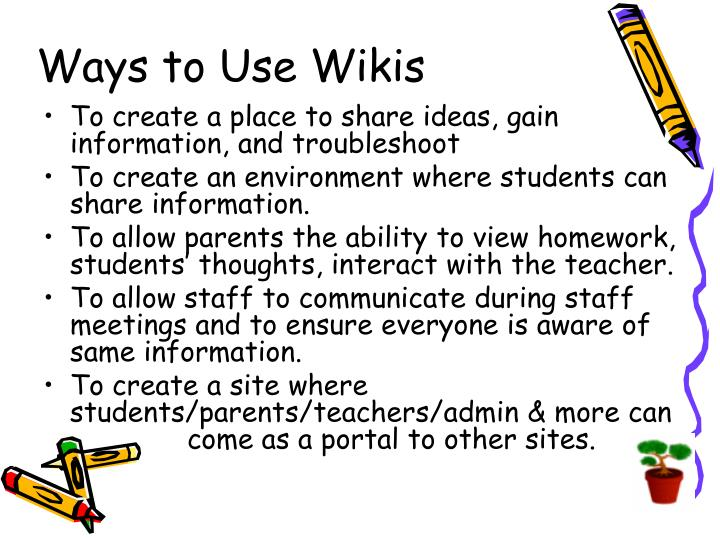 Ways to Use Wikis
