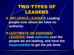 two types of leaders