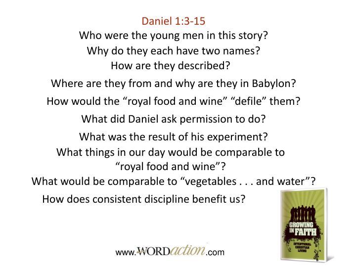 Daniel 1:3-15