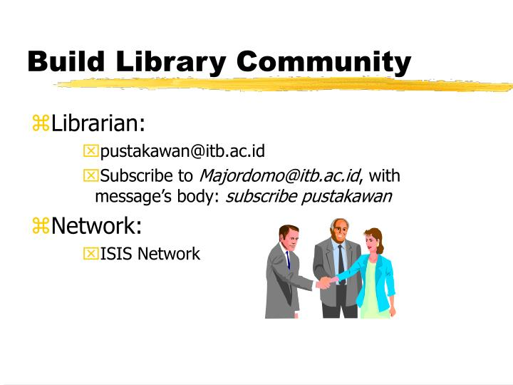 Build Library Community