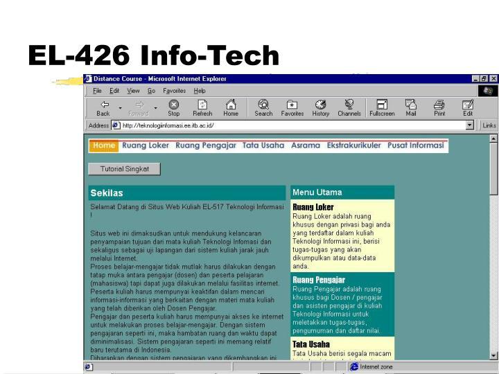 EL-426 Info-Tech