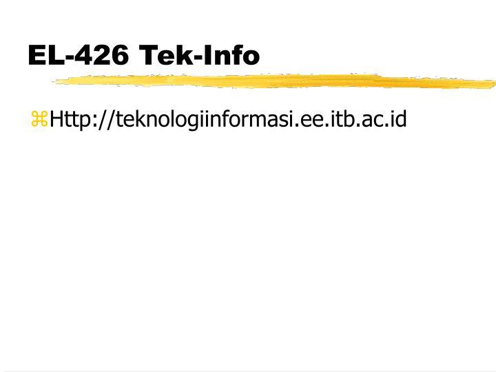 EL-426 Tek-Info