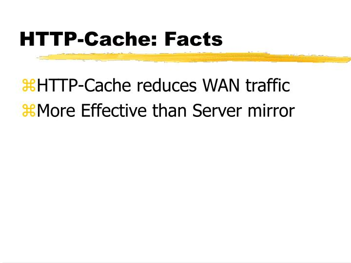 HTTP-Cache: Facts