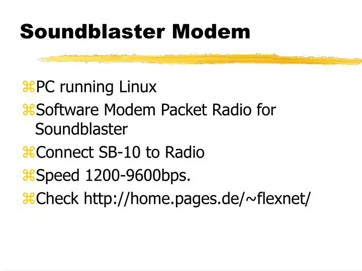 Soundblaster Modem