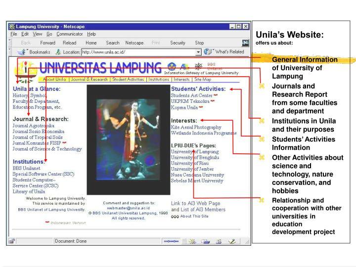 Unila's Website:
