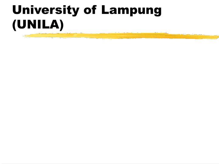 University of Lampung (UNILA)