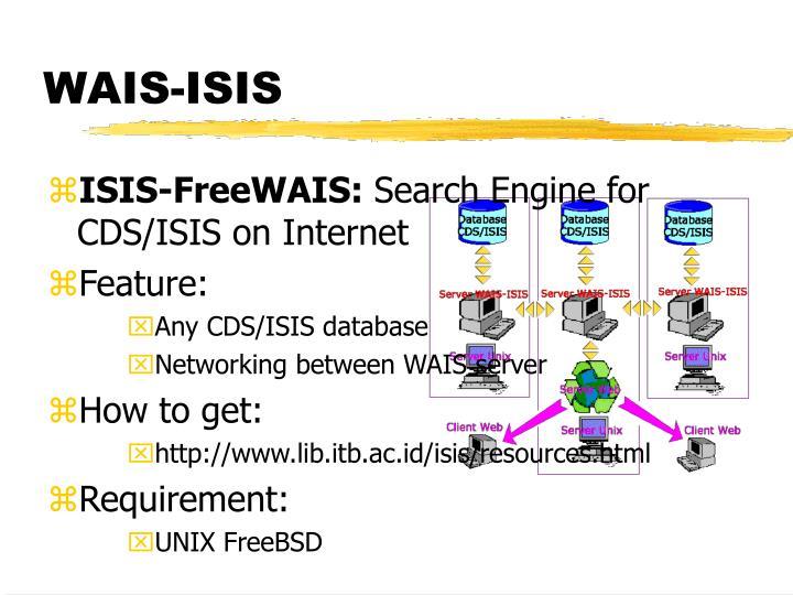 WAIS-ISIS