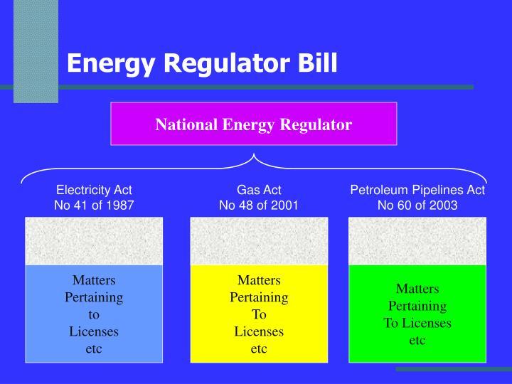 Energy Regulator Bill