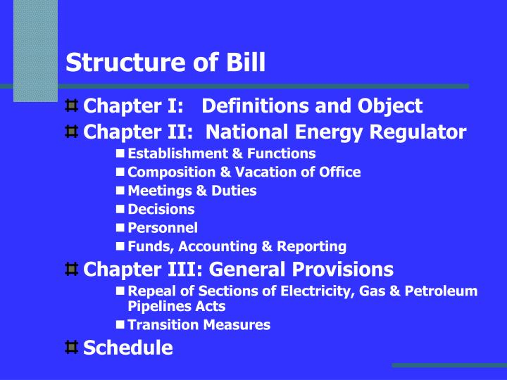 Structure of Bill