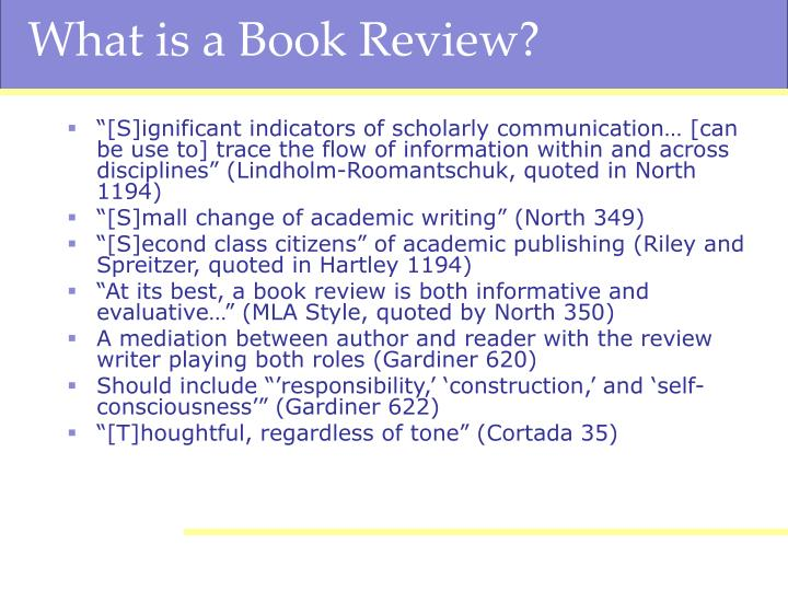 What is a book review