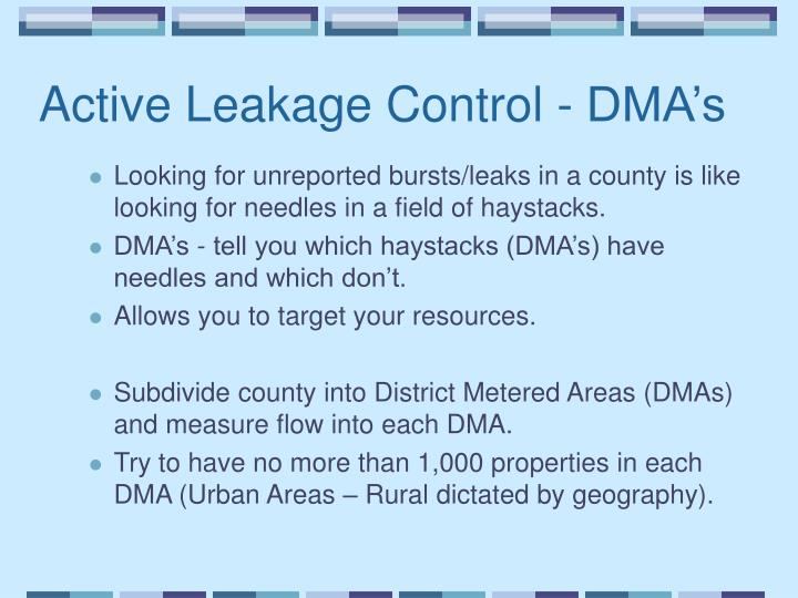 Active Leakage Control - DMA's
