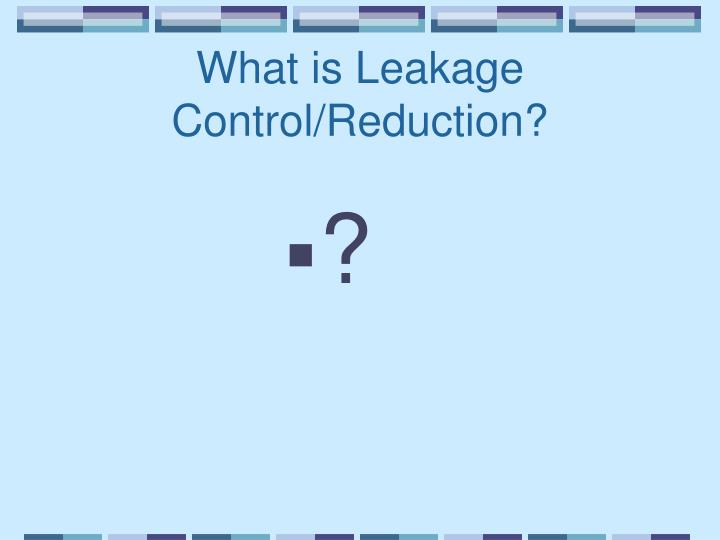What is Leakage