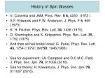 history of spin glasses