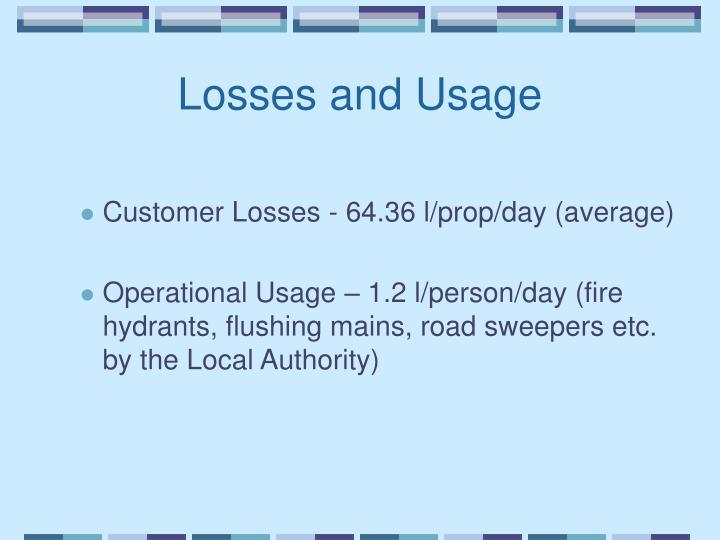 Losses and Usage