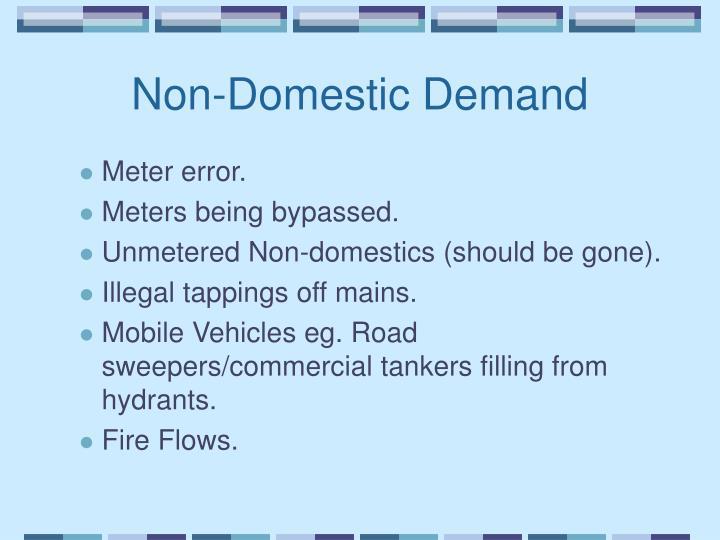 Non-Domestic Demand