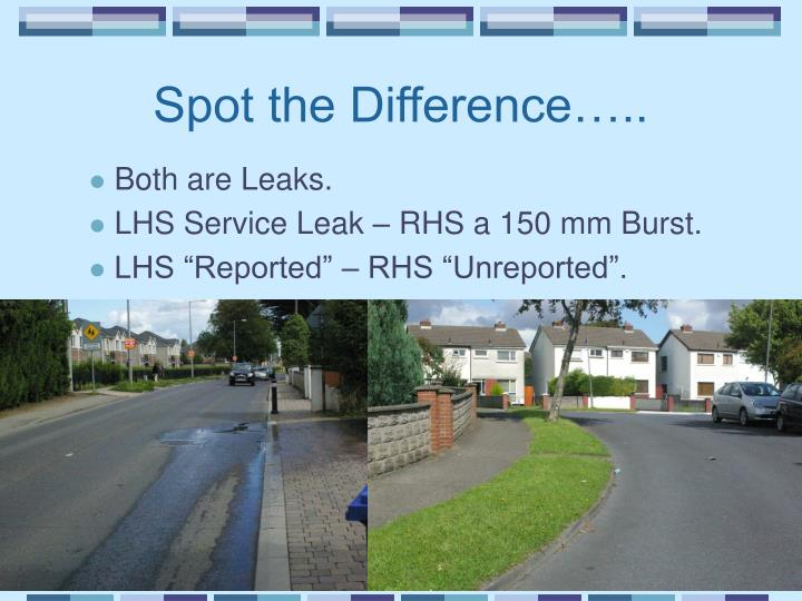 Spot the Difference…..