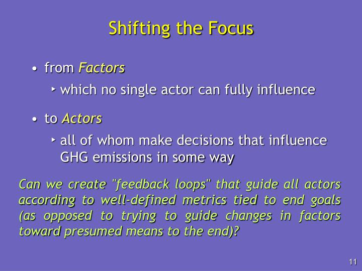 Shifting the Focus