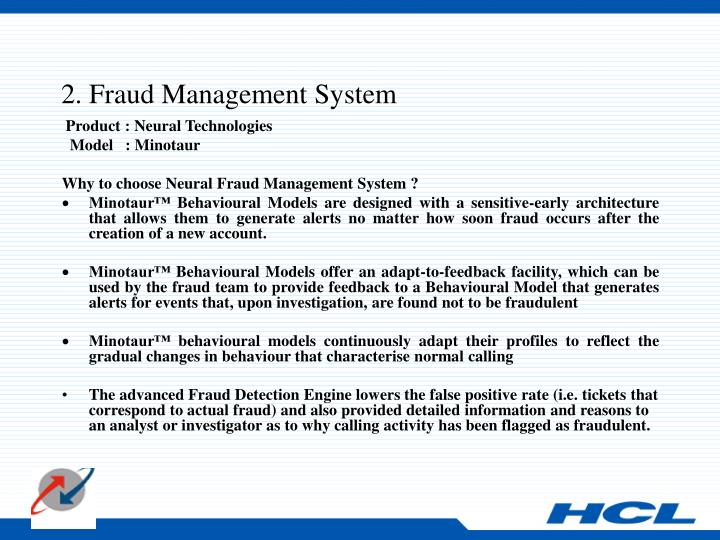 2. Fraud Management System