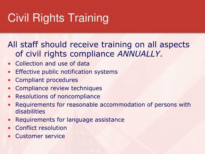 Civil Rights Training