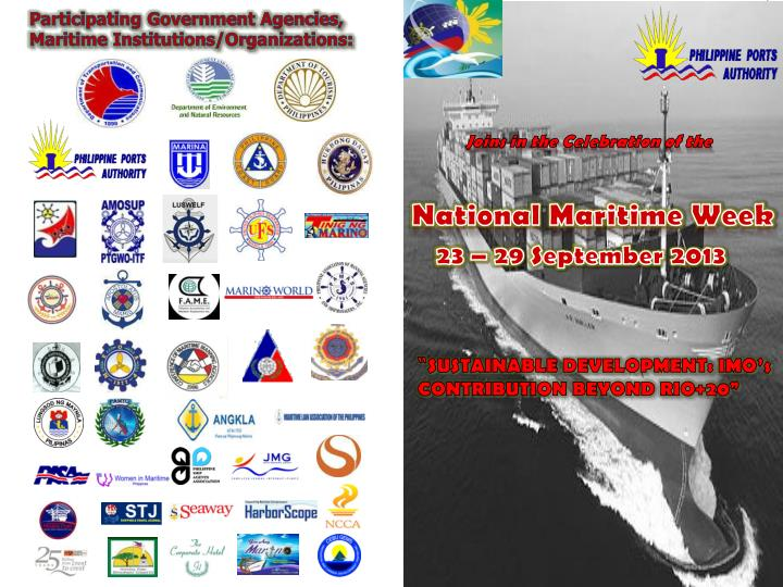 Participating Government Agencies, Maritime Institutions/Organizations: