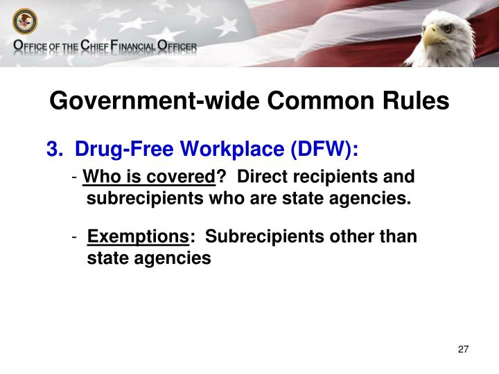 Government-wide Common Rules