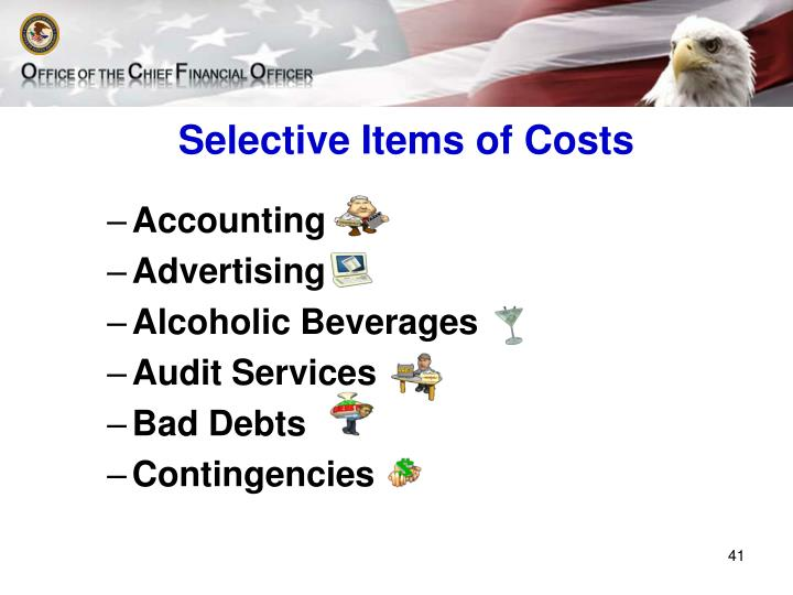 Selective Items of Costs