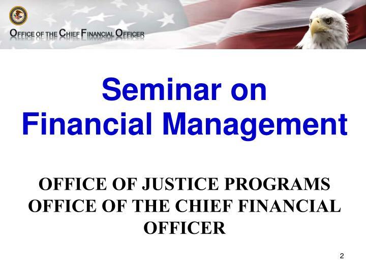 Seminar on financial management