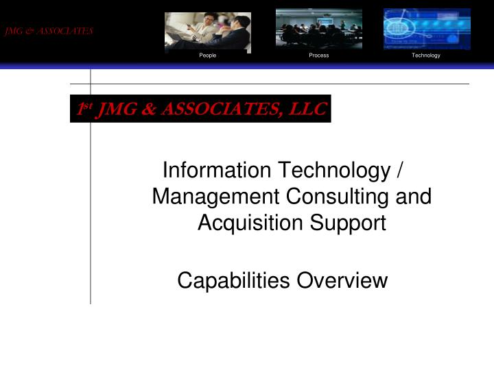 Information technology management consulting and acquisition support capabilities overview