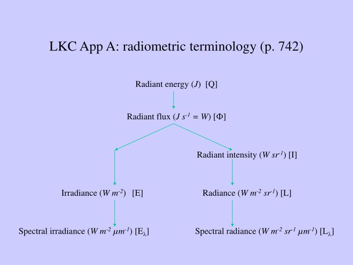 LKC App A: radiometric terminology (p. 742)