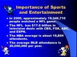 importance of sports and entertainment1