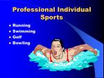 professional individual sports1