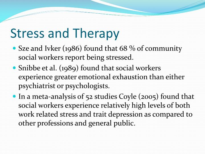 Stress and therapy
