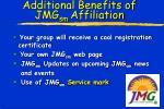 additional benefits of jmg sm affiliation