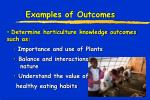 examples of outcomes1