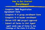 how to get started enrollment