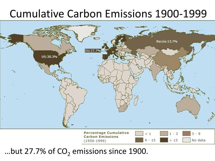 Cumulative Carbon Emissions 1900-1999