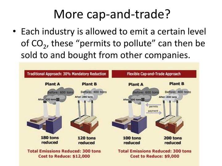 More cap-and-trade?