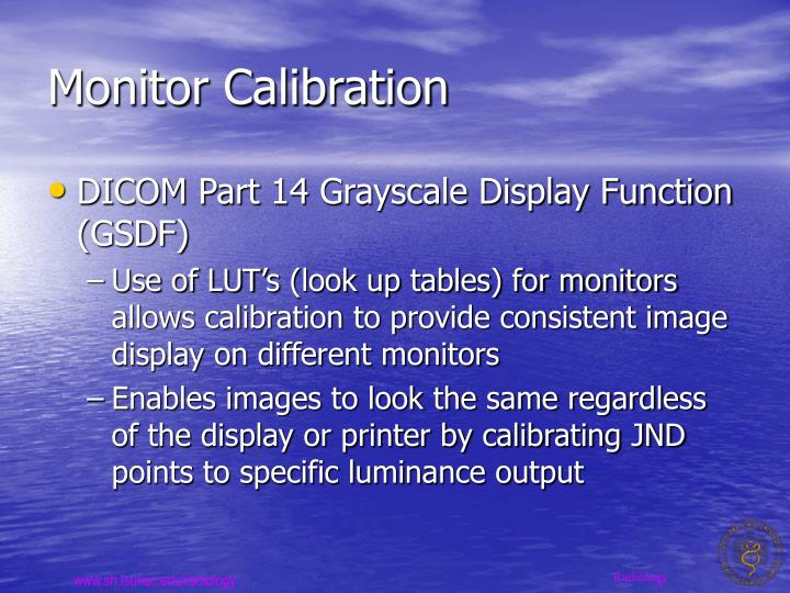 Monitor Calibration