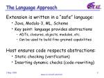 the language approach