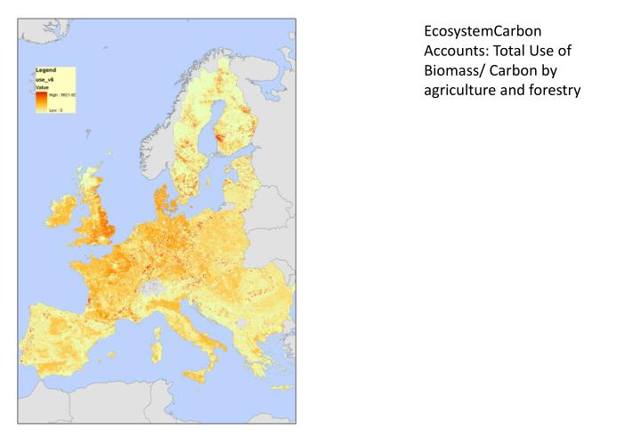 EcosystemCarbon Accounts: Total Use of Biomass/ Carbon by agriculture and forestry