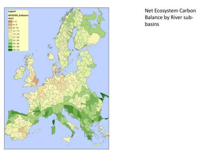 Net Ecosystem Carbon Balance by River sub-basins